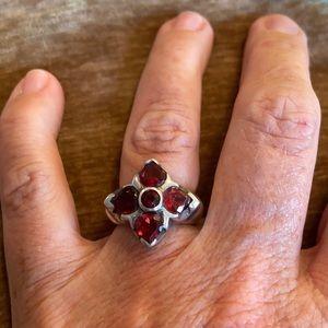 Sterling Silver 5 Stone Garner Ring